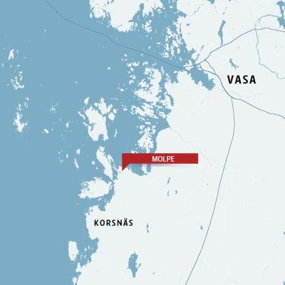 Karta över Molpe