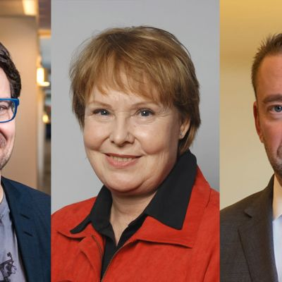 Ville Niinistö, Annika Lapintie, Stefan Wallin.