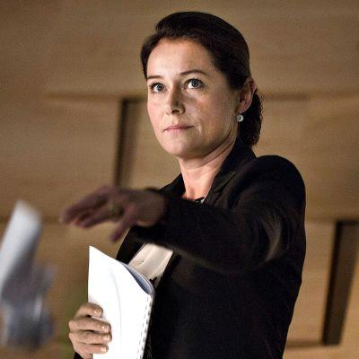Vallan linnake -sarjan päähenkilö, pääministeri Birgitte Nyborg (Sidse Babett Knudsen).