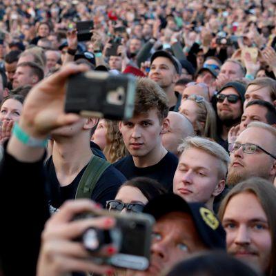 Metallica-keikka Hämeenlinnassa 16.7.2019.