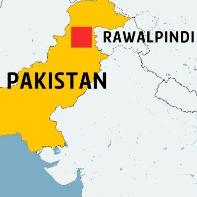 Karta över Pakistan.