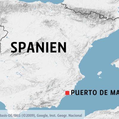 Puerto de Mazarrón på en karta.