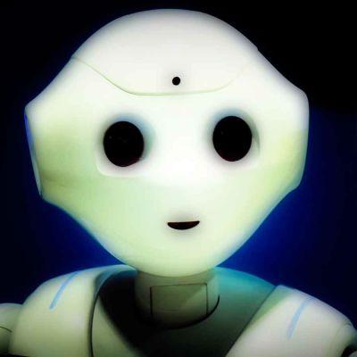 Robotti (Pepper) käsitelty kuva