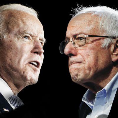 Biden ja Sanders ovat pääkilpailijat demokraattien presidenttiehdokkaaksi.