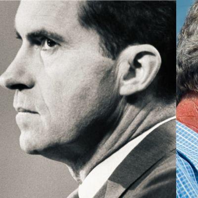 Sivuprofiilissa vasemmalla Richard Nixon, oikealla George W. Bush, kuvakollaasi