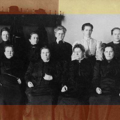 De första kvinnorna i Finlands riksdag.
