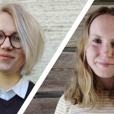 Bildkollage på Alexandra Nummenpää och Elsa Österåker