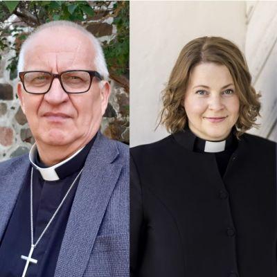 Två präster bredvid varandra.