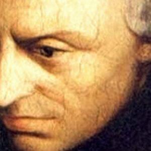 Målning av filosofen Kant, ansikte.
