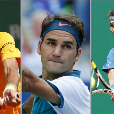 Novak Djokovic, Roger Federer, Rafael Nadal.