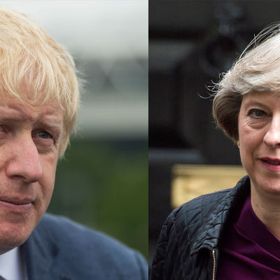 Boris Johnson och Theresa May.