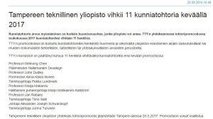 Skärmdump som visar att hailemariam desalegn ska utnämnas till hedersdoktor