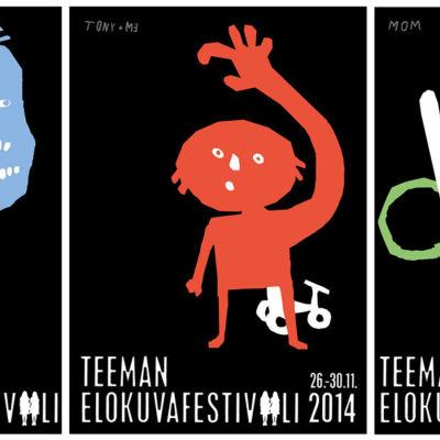 Yle Teemas filmfestival har en snygg plansch, där temat är The shining.