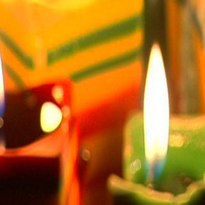 Stämning med juleljus