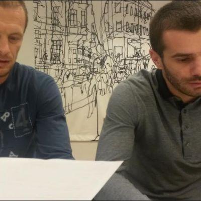 Vladimir Nikitović och Ivica Milutinović anklagar tränaren Juntunen.