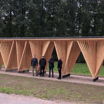 Arkkitehti Erkko Aartin suunnittelema paviljonkimainen kokonaisuus valmistui heinäkuussa.