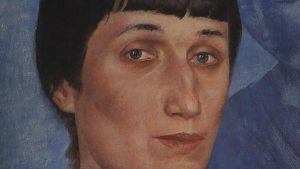 Anna Ahmatova, venäläinen runoilija, maalaus: Kuzma Petrov-Vodkin, Anna Ahmatova, 1922