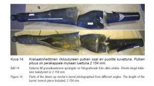 Granatkastaren som exploderade i Rovajärvi 2005