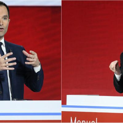 Benoît Hamon och Manuel Valls