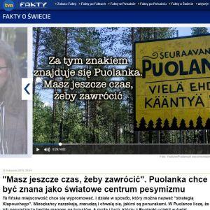 Kuvakaappaus puolalaisen tv-kanavan uutisesta.