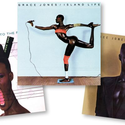 Kolme Grace Jonesin levynkantta.