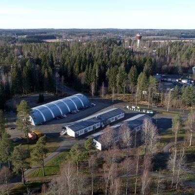 Ilmakuva Juvan yläasteen viipalekoulusta syksyllä 2017.