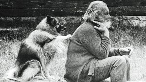 Tapio Wirkkala ja Kasper-koira