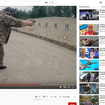 Kuvakaappaus Youtubesta