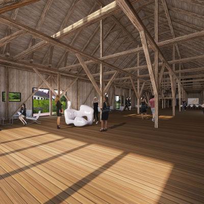 I maj öppnas en ny evenemangslokal i det Gamla Tröskhuset i Fiskars bruk.