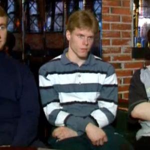 Saku Koivu, Jere Lehtinen ja Ville Peltonen haastattelussa.