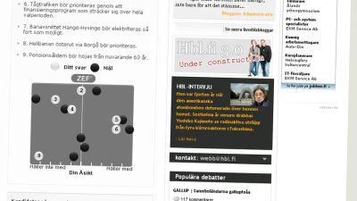 Skärmdump från hbl.fi