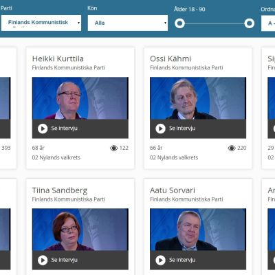 Finlands kommunistiska parti i Yles valgalleri 2015.