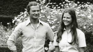 Det svenska kungaparet på Solliden