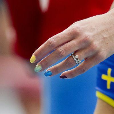 Emma Green-Tregaros regnbågsnaglar, friidrotts-VM 2013