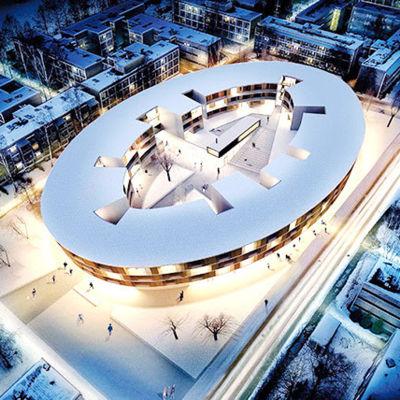 Det planerade studentbostadshuset i Åbo.