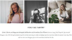 En bild av en bloggsida, några foton och text.