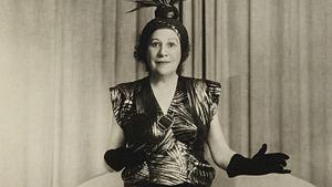Laulajatar Jenny Spennert 1940-luvun lopulla.