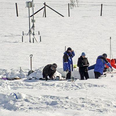Sodankylä, lumitutkimus, tutkijaryhmä