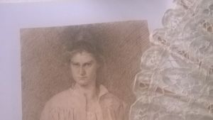 En teckning av Hilda Flodin.