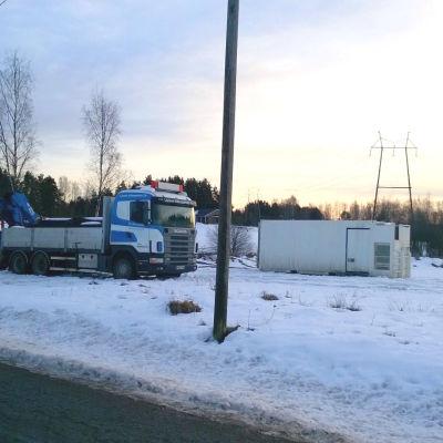 Borgå Vatten bygger tryckavlopp i Svartså.