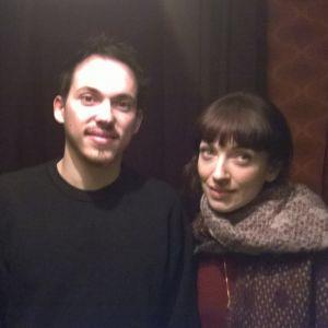 Igor och Elena backstage i Stockholm.