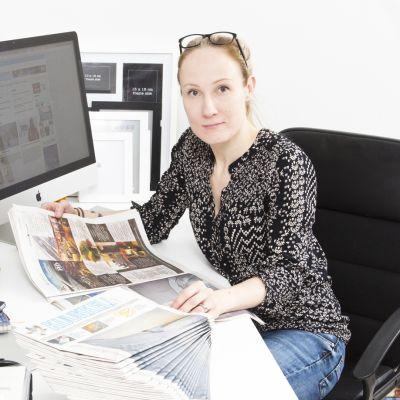 Kuukkelli-lehden päätoimittaja ja kustantaja Satu Renko.