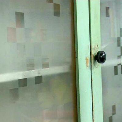 Renovering av verktygsskåp - fönsterdekoration