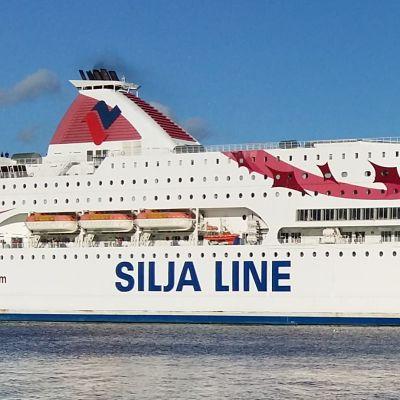 M/S Baltic Princess åker förbi Runsala folkpark på väg från Åbo till Stockholm.