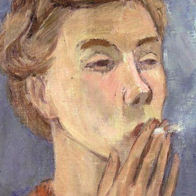 Tove Jansson självporträtt 1940