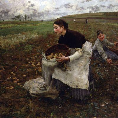 Jules Bastien-Lepage, Saison d'Octobre: Recolte des pommes de terre, 1879. (National Gallery of Victoria)