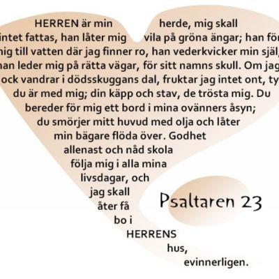 Citat ur psalm 23 i psaltaren i GT