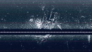 Bild på ett möjligt vrak på havsbotten.