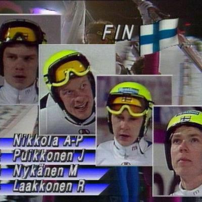 Joukkuemäen mestarit Lahden MM-kisoissa 1989