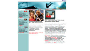 Kuvakaappaus Summerin nettisivuista vuodelta 2001.